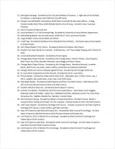 WOW Park 2015 Auction Page 2