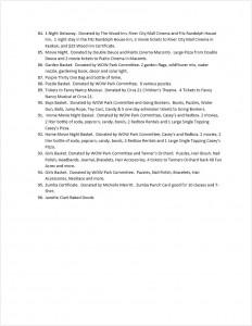 WOW Park 2015 Auction Page 5